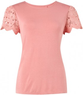 Sash-Rose-Broderie-Lace-Tee on sale