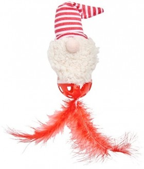 Joy-Love-Hope-Santa-Feather-Cat-Toy on sale