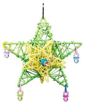 Joy-Love-Hope-Star-Vine-Bird-Toy on sale