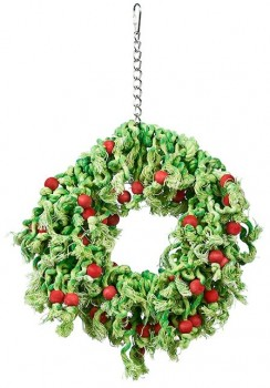 Joy-Love-Hope-Wreath-Christmas-Bird-Toy on sale