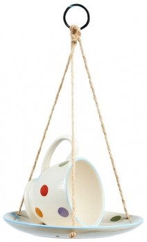 Spots-Dots-Wild-Bird-Teacup-Feeder on sale