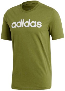 adidas-Mens-Essentials-Linear-T-Shirt-Olive on sale