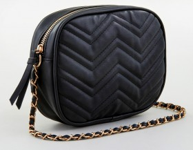 me-Chain-Strap-Crossbody-Bag-Black on sale