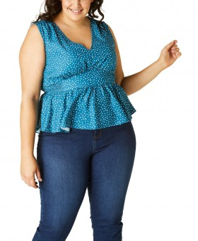 Avella-Peplum-Top on sale