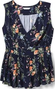 Avella-Floral-Peplum-Top on sale