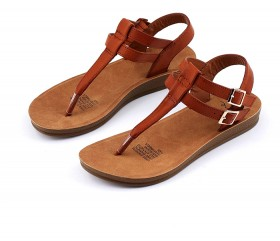 me-Womens-Buckle-T-Bar-Sandals-Brown on sale
