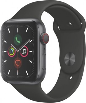 Apple-Watch-Series-5-40mm-Space-Grey-Aluminium-Black-Band on sale