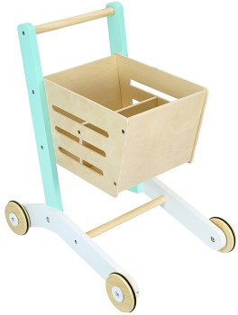 Wooden-Shopping-Trolley on sale