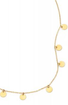 9ct-Gold-45cm-Solid-Multi-Disc-Drop-Necklet on sale