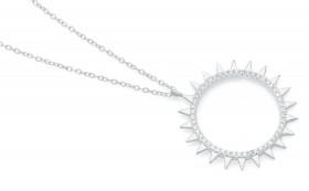 Sterling-Silver-Celestial-CZ-Channel-Set-Sunburst-Pendant on sale