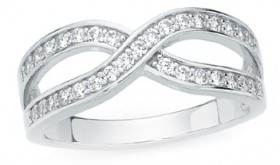Sterling-Silver-CZ-Channel-Set-Crossover-Ring on sale