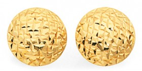 9ct-Gold-9mm-Button-Stud-Earrings on sale