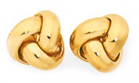 9ct-Gold-5mm-Love-Knot-Stud-Earrings on sale