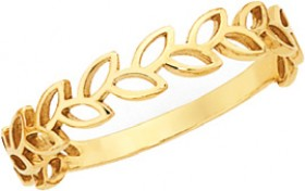 9ct-Gold-Stacker-Ring on sale