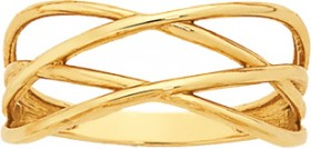 9ct-Gold-Double-Crossover-Dress-Ring on sale