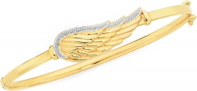 9ct-Gold-Two-Tone-60mm-Bangle on sale