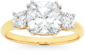 9ct-Gold-CZ-Trilogy-Ring on sale