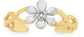 9ct-Gold-Two-Tone-CZ-Toe-Ring on sale
