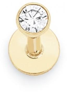 9ct-Gold-CZ-Labret on sale