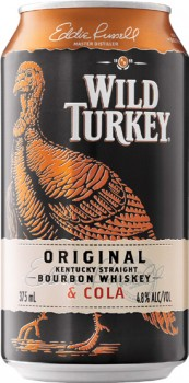 Wild-Turkey-Bourbon-Cola-Cans-10-Pack-375mL on sale