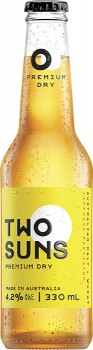 NEW-Two-Suns-Premium-Dry-Lager-330mL on sale