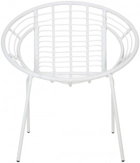 Woven-Lounge-Chair-White on sale