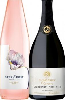 Days-of-Ros-Dry-Ros-or-Jacobs-Creek-Reserve-750mL-Varieties on sale
