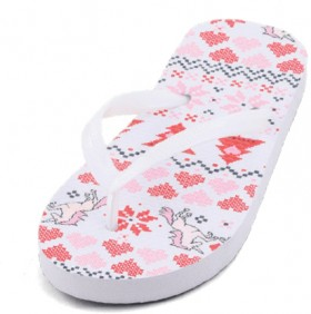Wave-Zone-Girls-Christmas-Thongs-White on sale