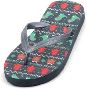 Wave-Zone-Boys-Christmas-Thongs-Grey on sale