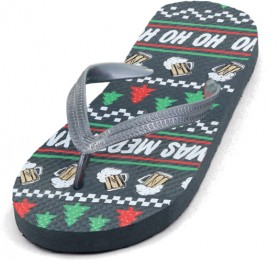 Wave-Zone-Mens-Christmas-Thongs-Black on sale