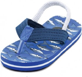 Wave-Zone-Boys-Printed-Thong-Blue on sale