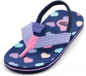 Wave-Zone-Infant-Girls-Heart-Print-Thongs-Navy on sale
