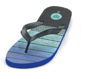 Wave-Zone-Mens-Striped-Thongs-Blue on sale