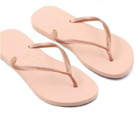 Havaianas-Womens-Slim-Plain-Thongs-Rose on sale