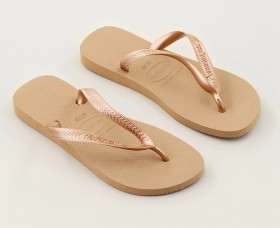 Havaianas-Womens-Plain-Thongs-Rose-Gold on sale