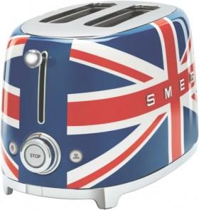 NEW-Smeg-50s-Style-Toaster-2-Slice-Union-Jack on sale