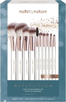 Nude-by-Nature-10pc-Reflections-Brush-Set on sale