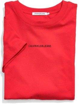 Calvin-Klein-Jeans-Red-Tee on sale