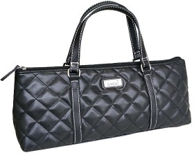 Sachi-Insulated-Wine-Purse-Quilted-Black on sale