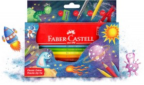 Faber-Castell-Classic-Colour-Pencil-Zip-18-Tin-Night-Sky on sale