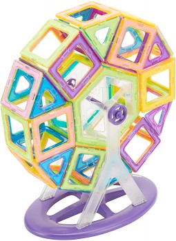100-Pieces-Magnetic-Tiles-Ferris-Wheel on sale