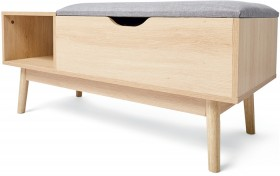 Oak-Look-Storage-Bench on sale