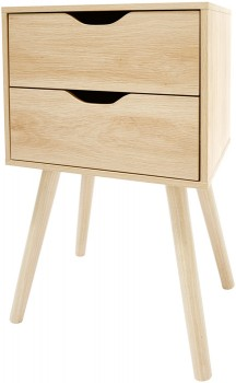 2-Drawer-Oak-Look-Side-Unit on sale