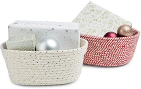 Christmas-Rope-Baskets on sale