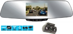 NanoCam-Plus-1080p-Mirror-Mounted-Dash-Cam-with-Rear-Camera on sale