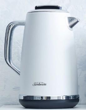 NEW-Sunbeam-Galleria-Metal-Kettle-1.7L-Matte-White on sale