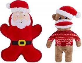 Assorted-Pet-Toy-Santa-Monkey on sale