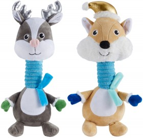 Assorted-Pet-Toy-Fox-Reindeer on sale