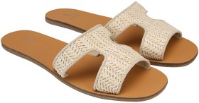 Womens-Cut-Out-Square-Toe-Slides on sale