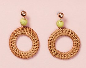 Macrame-Hoop-Earrings on sale